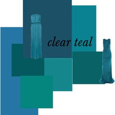 Favorite color ever!    Just Color: Clear Teal, created by authenticbeauty on Polyvore