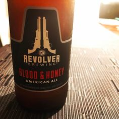 Happiness is a cold one. #bangbang #happinessisawarmgun #revolverbrewing the taste of #bloodandhoney has arrived in San Antonio #blessed