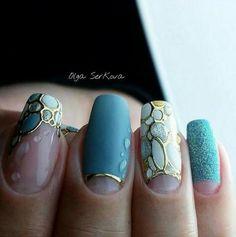 take a look at The Top 30 Trending Nail Art Designs Of All Season. Diy Nails, Cute Nails, Pretty Nails, Manicure, Gel Nail Art, Acrylic Nails, Art Simple, Nagellack Trends, Nail Design Video