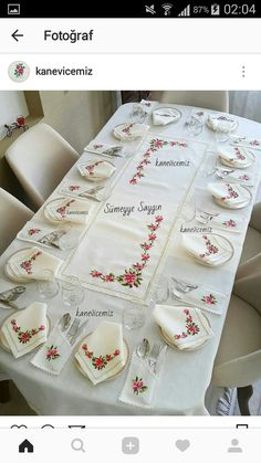 Baby Knitting Patterns, Table Runners, Needlework, Cross Stitch, Embroidery, Tableware, Salons, Tablecloths, Crochet Doilies