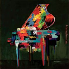 Piano Coloratura Art Painting