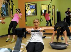 It's a small room, but it has plenty of potential, tucked away beyond the lines of traditional treadmills and weight machines at the Maryland Athletic Club Express in Hunt Valley.