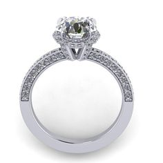 Diamond pave 0.60ct  engagement ring with by fabiandiamonds for more visit us at www.fabiandiamonds.com