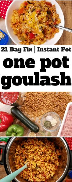 This healthier version of goulash is a family favorite–we make it about once a week! With whole wheat noodles and extra veggies, it's 21 Day Fix friendly, too! Instant Pot Goulash   One Pot Goulash