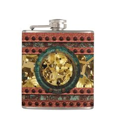 Steampunk 4 Wrapped Flask Options