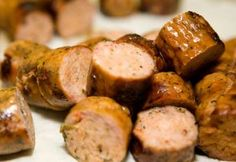 Just four ingredients make this delicious Appley Kielbasa sausage crockpot appetizer recipe the simplest ever. Summer Appetizer Recipes, Gourmet Appetizers, Potato Appetizers, Light Appetizers, Sausage Crockpot, Sausage Recipes, Kielbasa Sausage, Sausage Rolls, Crockpot Meals