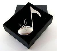 Brieföffner mit Magnet Edelstahl-Achtelnote in Geschenkbox