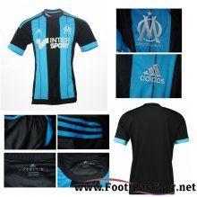 Maillots Olympique De Marseille OM Noir/Bleu Exterieur 15 2016 2017 Pas Chere
