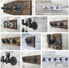 DARK WALNUT Rustic Bathroom Set, Industrial Pipe Set, Full Bathroom  Accessories, Rustic Decor, Industrial Bathroom,Farmhouse(PATENT Pending)