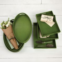 Emerald Green Crocodile Trays (Color of 2013) sharing luxury designer home decor inspirations and ideas for beautiful living rooms, dinning rooms, bedrooms  bathrooms inc furniture, chandeliers, table lamps, mirrors, art, vases, trays, pillows  accessories courtesy of InStyle Decor Beverly Hills enjoy  happy pinning. I like this color