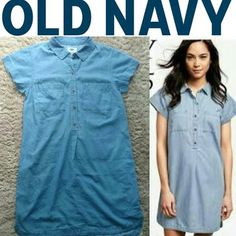 Fashionlicious - online shop indonesia branded: OLD NAVY Chambray Shirt Dress