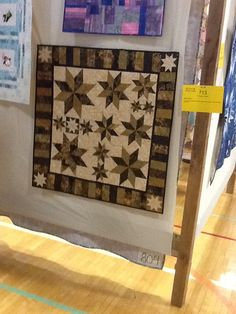 On display at local quilt show.