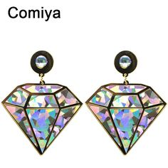 Comiya new geometric shape steampunk hip hop women drop earrings brincos de ouro bijoux femme wholesale earrings fashion #earring #rings #steampunk