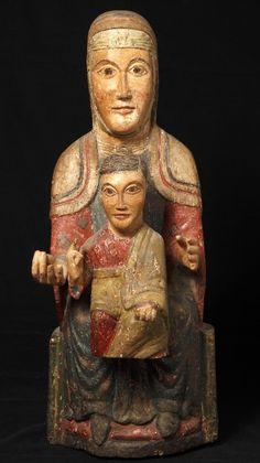 02.032.0471.27309.01815.0316 Verge de Sant Martí de la Roca Romanesque Art, Madonna Art, Statues, Roman Art, Mystique, European Paintings, Creepy Art, Stone Sculpture, Effigy
