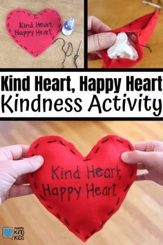 Kindness Activities, Fun Activities, Books About Kindness, Kindness Challenge, Autumn Activities For Kids, Heart Crafts, Projects For Kids, Art Projects, Happy Heart