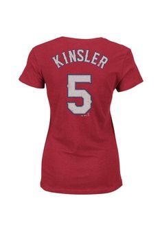 Texas Rangers Women's Kinsler Player Shirt