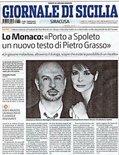 """5 giugno 2013 - intervista sullo spettacolo """"Dopo Il SIlenzio"""" - Il Giornale di SIcilia"""