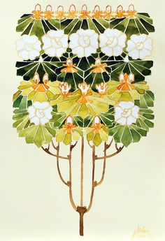 Art Nouveau Flowers 2 by ~natalia-virlan on deviantART
