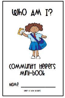 Community helpers mini book