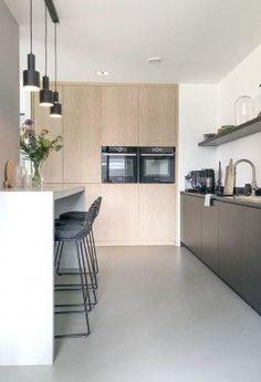 Bathroom Interior, Kitchen Interior, Home Interior Design, Funky Kitchen, Home Decor Kitchen, Home Inc, Contemporary Kitchen Design, Minimalist Kitchen, Küchen Design
