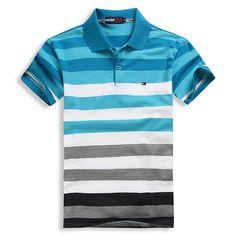 Men POLO T-Shirt T0mmy Hil Fashion Strip (end 9/23/2017 1:32:00 AM) Stylish Shirts, Camisa Polo, Polo T Shirts, Ralph Lauren, Stripes, Mens Fashion, Swimwear, Mens Tops, How To Wear