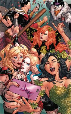 Harley & Ivy Meet Betty and Veronica continues to be a party of fun, but some identity crisis derails this issue a bit. A fun comic! You know what Harley & Ivy Meet B… Archie Comics, Marvel Dc Comics, Heros Comics, Comics Girls, Marvel Vs, Fun Comics, Cosmic Comics, Harley Quinn, Joker And Harley