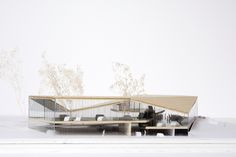 Car Retail Centre by Salto Floating Architecture, Concept Architecture, Futuristic Architecture, Interior Architecture, Architecture Models, Bridge Design, Roof Design, Arch Model, Library Design