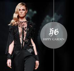 Black jumpsuit, shiny details - perfect dressy outfit. Hippy Garden www.hippygarden.com #fashion #brand #hippygarden #masarykova5 #dramaticelegance #jumpsuit #decolletage
