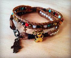 Pulsera Bracelets, Leather, Jewelry, Fashion, Bangle Bracelets, Bangles, Jewlery, Moda, Jewels