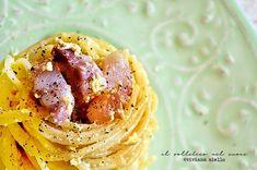 pasta alla carbonara perfetta Italian Pasta Recipes Authentic, Pasta Alla Carbonara, Spaghetti, Ethnic Recipes, Food, Essen, Meals, Yemek, Noodle