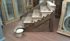 Period staircase cut string curtail step wooden timber softwood volute | eBay
