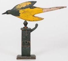 Folk Art Carved Bird on Water Pump