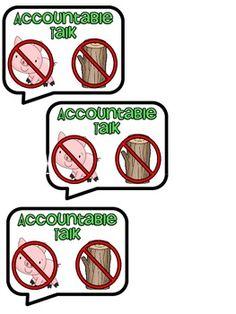 """Accountable Talk Sticks. No """"hogs"""" and no """"logs"""""""