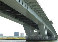 Toyosu-Ohashi Bridge  訳ありでこの形になった橋脚