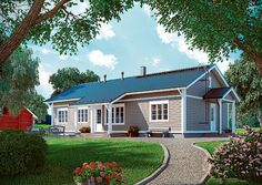 Sievitalo   Pihlaja 148 julkisivu House Plans, Shed, Outdoor Structures, Cabin, Mansions, House Styles, Outdoor Decor, Home Decor, Lean To Shed