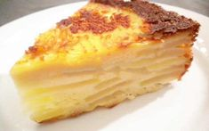 1 Gâteau Flan aux Pommes Entrees, Biscuits, French Toast, Cheesecake, Pudding, Cooking, Breakfast, Health, Recipes