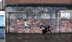 Street art: Jerzy Dudek Saves Liverpool, 2005 Champions League Final