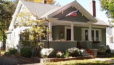 I love the style and shapes of historic bungalow homes