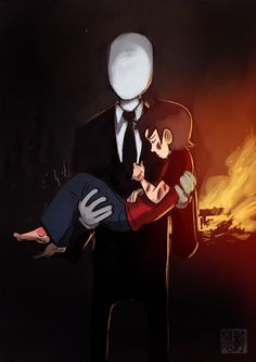 "Slenderman - Misunderstood hero. An ""Awwwwhh"" moment.."
