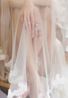 Love this veil + rings!  SAMANTHA WILLS BRIDAL: OF THE NIGHT