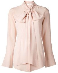 Pale pink with ruffle detail.