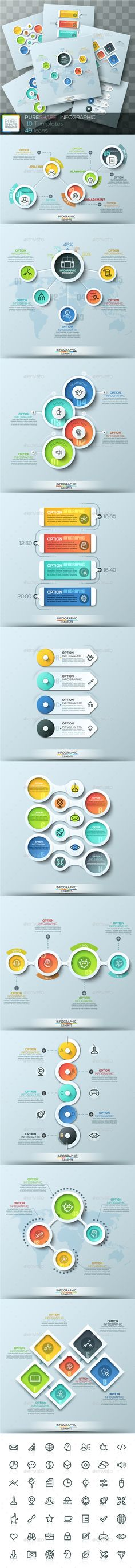 Pure Shape Infographic Templates. Download here: http://graphicriver.net/item/pure-shape-infographic/15819052?ref=ksioks