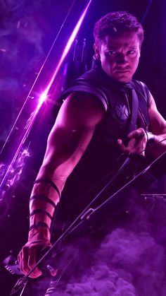 Hawkeye/Jeremy Renner Animated Video GIF created by Sherilynn Gould Avengers Infinity War Endgame Ha