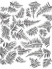 Downloadable Fern Stencil and More From Alabama Chenin Website. Love Alabama Chenin!!!