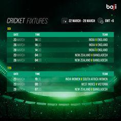 এখনই baji555 এ বেট ধরুন এবং উইন বিগ! #baji #Sports #Cricket #Schedule #Fixtures Cricket Fixtures, 26 March, Cricket Schedule, New Zealand, England, Sports, Hs Sports, English, Sport