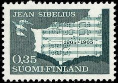 Postage stamp celebrating 100 years from the birth of Jean Sibelius, the Finnish composer, 1965 Finland Culture, Classical Music Composers, Postage Stamp Collection, Romantic Period, Postage Stamp Art, Stamp Collecting, Wikimedia Commons, Inspire Me, Norway