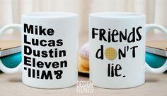 Stranger things Friends don't lie mug