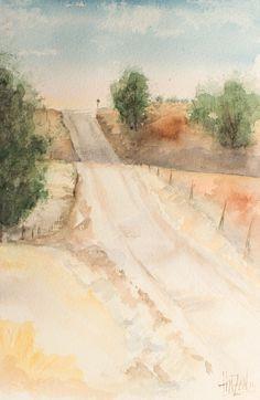 Acuarela - El camino de vuelta. Watercolor - The way back. HMZEN'14