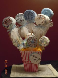 """""""About to Pop!"""" - Baby Shower Gift  Adorable gift from hosts to mom-to-be."""