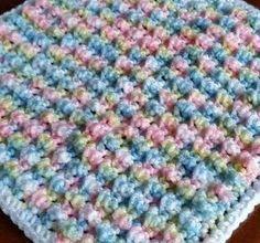 Crochet Bubble Pop stitch blanket